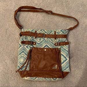 Roxy leather and print bag
